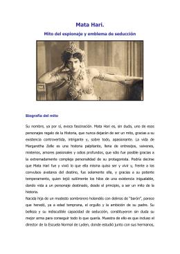 Mata Hari. - Sandra Cerro