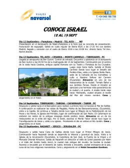 CONOCE ISRAEL - Viajes Navarsol