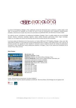 Ficha Técnica - TOT Badalona