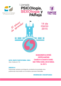 I Jornada de Psicología, Sexología y Pareja