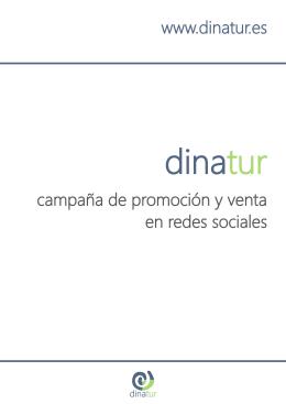 campaña de promoción y venta en redes sociales www.dinatur.es