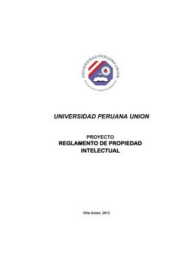 universidad peruana union proyecto reglamento de propiedad