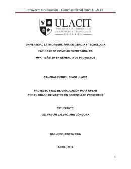 Proyecto Graduación – Canchas fútbol cinco ULACIT