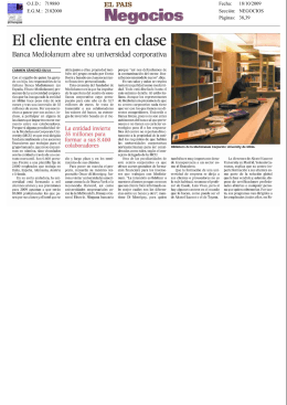El Pais Negocio - Mediolanum Corporate University