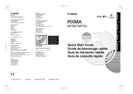 MP780/MP750 Quick Start Guide
