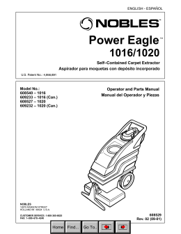 NOBLES POWER EAGLE 1016/1020