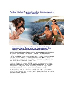 Renting Náutico - Grupo Catamaranes
