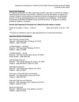 Información sobre el Programa - VASD Pre-K