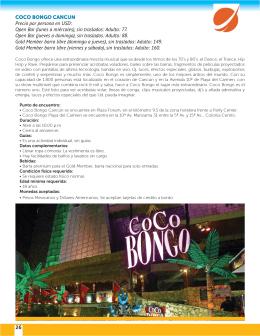 Coco Bongo Cancún