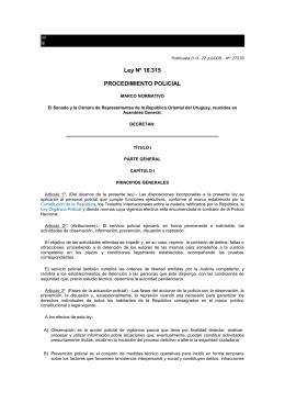 Ley Nº 18.315 PROCEDIMIENTO POLICIAL
