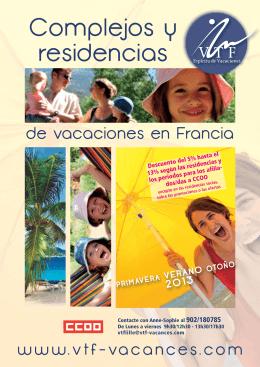 Complejos y residencias de vacaciones en Francia