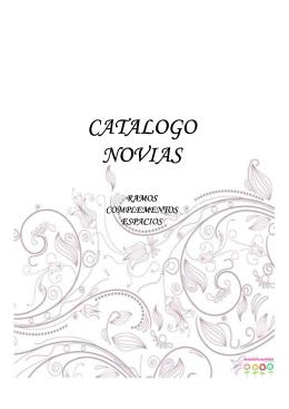 CATALOGO NOVIAS