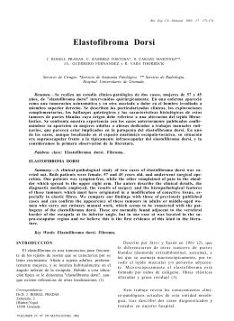 Elastofibroma Dorsi - Revista Cirugía Osteoarticular