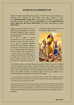 LEYENDA DE LOS HERMANOS AYAR