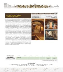 « ROMA SUBTERRANEA - gartourprograms.net