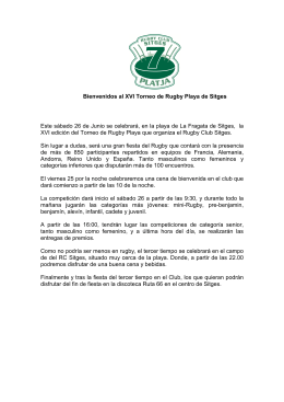 Documento PDF XVI Rugby Club Sitges Sevens Playa