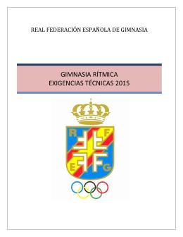 GIMNASIA RÍTMICA EXIGENCIAS TÉCNICAS 2015