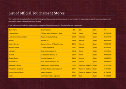 List of official Tournament Stores - Yu-Gi-Oh!