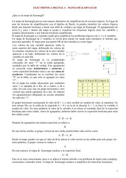 ELECTRÓNICA DIGITAL 4 – MAPAS DE KARNAUGH ¿Qué es un