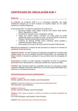 CERTIFICADO DE CIRCULACIÓN EUR-1