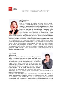 """DESCRIPCION DE PERSONAJES """"AQUÍ MANDO YO"""" María Elena"""