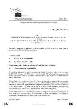 IMCO_PV(2013)0925_1 ACTA Reunión de 25 de septiembre de