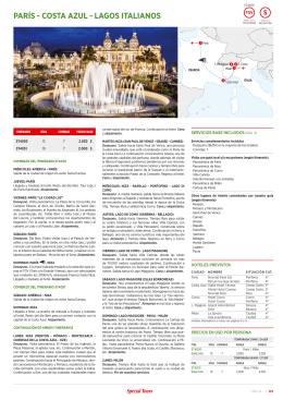 París - costa azUl - lagos italianos