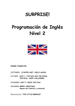 SURPRISE! Programación de Inglés Nivel 2