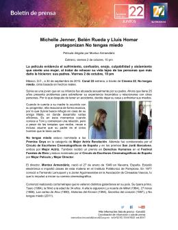 Michelle Jenner, Belén Rueda y Lluís Homar protagonizan No