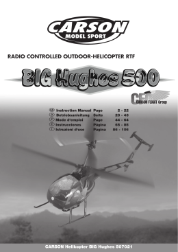 RADIO CONTROLLED OUTDOOR-HELICOPTER RTF