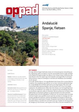 Andalucië Spanje, fietsen