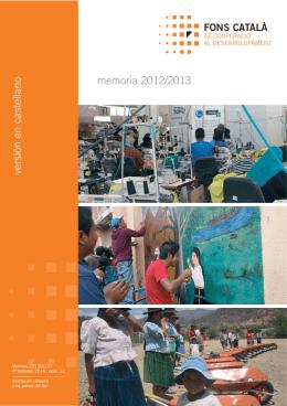 1 Memoria intro cast - Fons Català de cooperació al desenvolupament