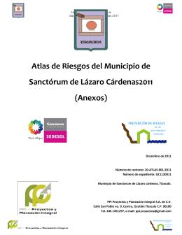 Atlas de Riesgos del Municipio de Sanctórum de Lázaro