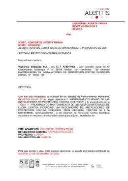 CONFORTEL PUERTA TRIANA REYES CATOLICOS 5 SEVILLA