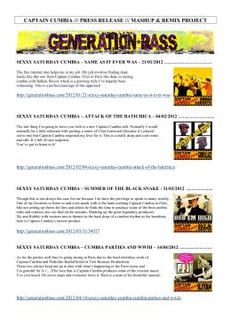 CAPTAIN CUMBIA Press Release - TAXI