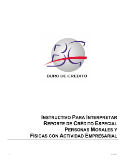 INSTRUCTIVO PARA INTERPRETAR REPORTE
