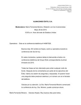Transcripción Teleconferencia 1T15
