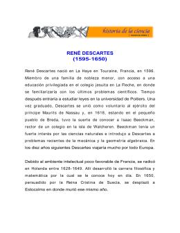 RENÉ DESCARTES (1595- 1650)