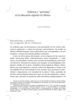 """Violencia y """"porrismo"""" en la educación superior en México"""