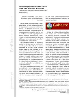 La cultura popular tradicional cubana en los sitios nacionales de