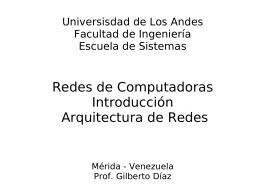 Redes de Computadoras Introducción - Web del Profesor
