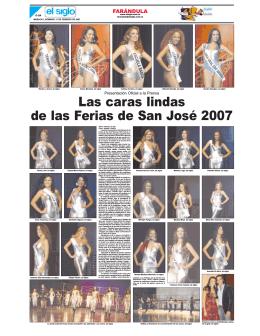 Las caras lindas de las Ferias de San José 2007