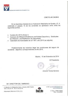 circular 136-2014 - Federacion Madrileña de Karate