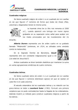 cuadrados mágicos, latinos y sudokus