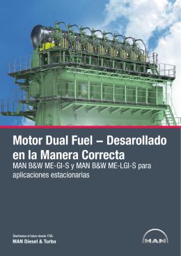 Motor Dual Fuel − Desarollado en la Manera Correcta