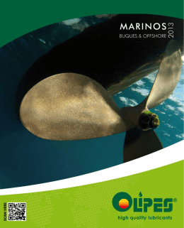 Catalogue of Lubricación of Marine Motors