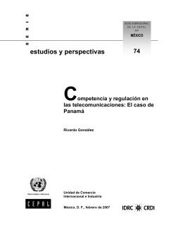 Competencia y regulación en las telecomunicaciones