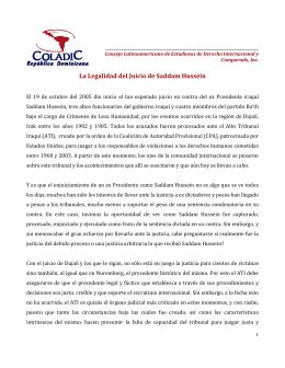 La Legalidad del Juicio de Saddam Hussein - Coladic-RD
