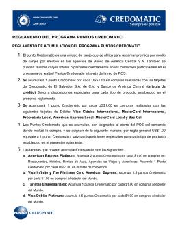 REGLAS DEL PROGRAMA