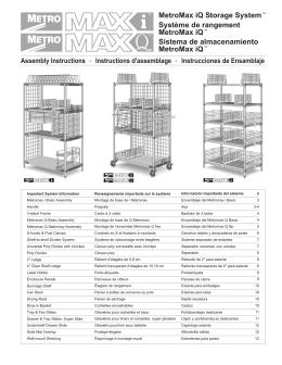 MetroMax iQ Storage System Système de rangement